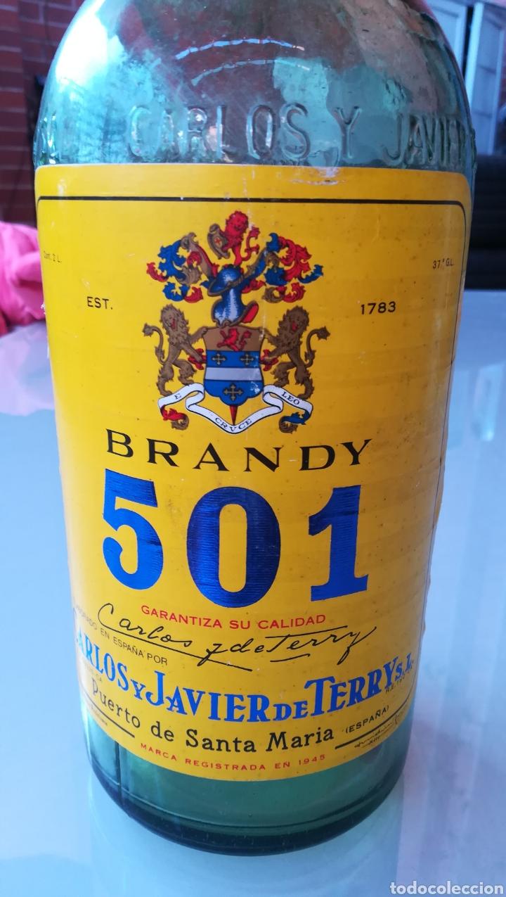 Botellas antiguas: Botella de 2 litros Brandy 501 - Foto 4 - 175699107