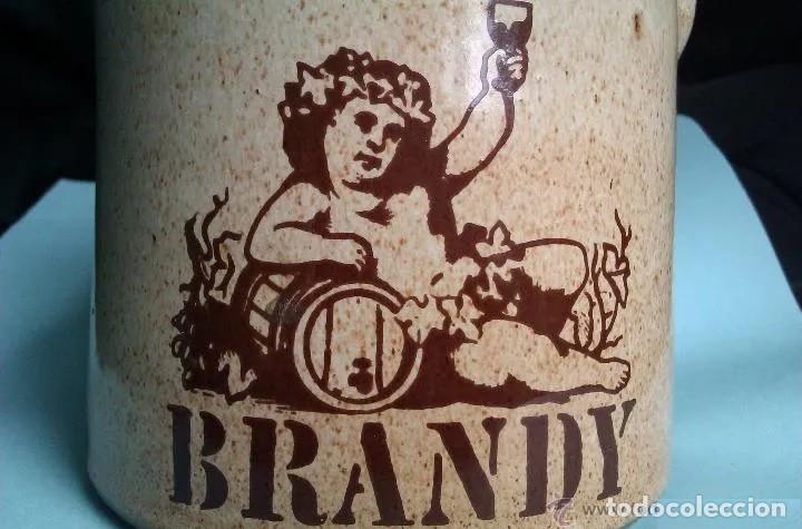 BONITA BOTELLA DE BRANDY DE TERRACOTA O CERAMICA CON UN PRECIOSO DIBUJO (Coleccionismo - Botellas y Bebidas - Botellas Antiguas)
