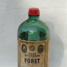 Botellas antiguas: ANTIGUA BOTELLA DE AGUA OXIGENADA FORET 1L.. Lote 178818652