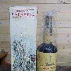 Botellas antiguas: BOTELLA BRANDY CARABELA SANTA MARIA. Lote 179392261