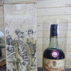 Botellas antiguas: BOTELLA BRANDY INDEPENDENCIA. Lote 179392761