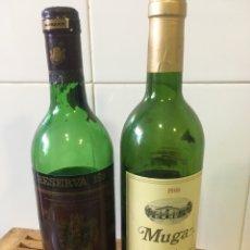 Botellas antiguas: BOTELLAS VINO RIOJA : MUGA Y MARQUÉS DE CACERES. Lote 179950891