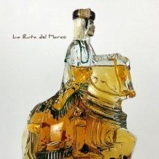 Botellas antiguas: BOTELLA DE CRISTAL CON BRANDY - A CABALLO - NOGUERAS COMAS, BARCELONA . Lote 180084661