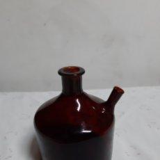 Botellas antiguas: ANTIGUA RARA BOTELLA DESCONOZCO UTILIDAD LLEVA FIRMA SE PUEDE VER EN LA FOTO. Lote 180499347
