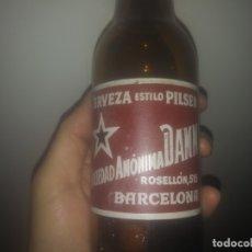 Botellas antiguas: ANTIGUA BOTELLA DE CERVEZA DAMM BARCELONA. Lote 182559856