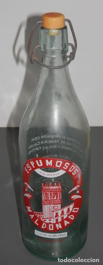 BOTELLA ANTIGUA ESPUMOSOS MALDONADO (Coleccionismo - Botellas y Bebidas - Botellas Antiguas)