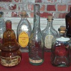 Botellas antiguas: LOTE DE 9 BOTELLAS. Lote 184110230