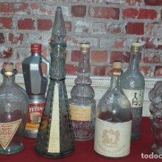 Botellas antiguas: LOTE DE 8 BOTELLAS. Lote 184110458