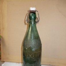 Botellas antiguas: ANTIGUA BOTELLA GASEOSA (CASERA). Lote 186184526
