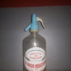 Botellas antiguas: SIFÓN ANTIGUO GASEOSAS LA UNION INDUSTRIAL,. Lote 187155466