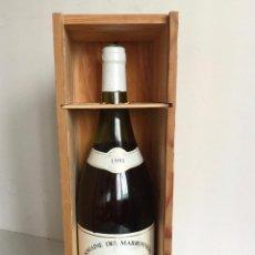 Botellas antiguas: BOTELLA VINO CHABLIS 1991 DOMAINE DE MARRONIERS MAGNUM 150CL CON CAJA. Lote 190564441