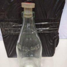 Botellas antiguas: BOTELLA CRISTAL DE AGUA DE SOLARES. 21CM ALTURA.. Lote 191426231