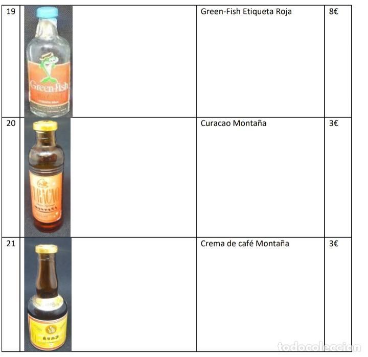 LOTE 3 MINIBOTELLAS COLECCION ANTIGUAS (Coleccionismo - Botellas y Bebidas - Botellas Antiguas)