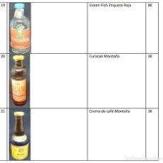 Botellas antiguas: LOTE 3 MINIBOTELLAS COLECCION ANTIGUAS. Lote 192034058