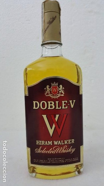 Botellas antiguas: WISKY DOBLE V SELLO 8 PTAS - Foto 1 - 192603076