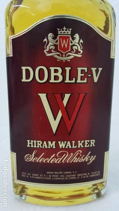 Botellas antiguas: WISKY DOBLE V SELLO 8 PTAS - Foto 4 - 192603076