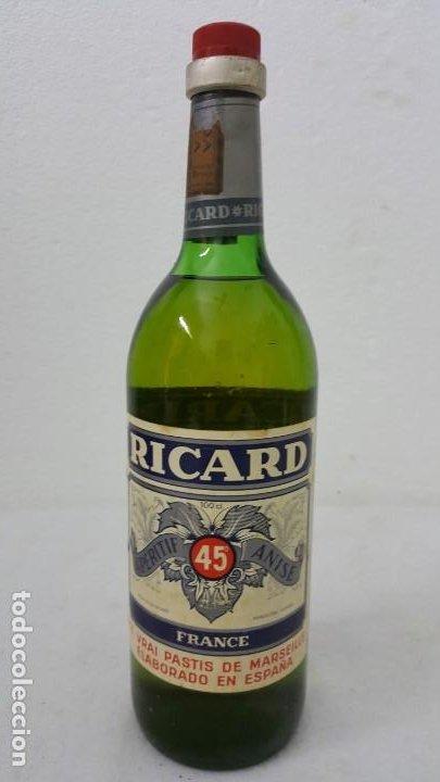 ANISSE RICARD SELLO 8 PTAS (Coleccionismo - Botellas y Bebidas - Botellas Antiguas)