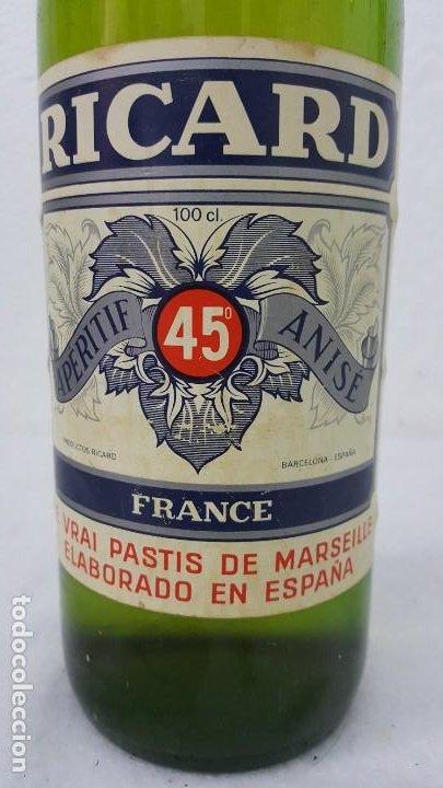 Botellas antiguas: ANISSE RICARD SELLO 8 PTAS - Foto 4 - 192603270