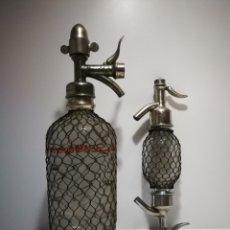 Botellas antiguas: SIFÓN SPARKLETS FRANCÉS + RARA PIEZA DE SIFÓN. TODO EN 100% PERFECTAS CONDICIONES. Lote 194176985