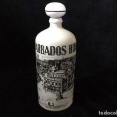 Botellas antiguas: ANTIGUA BOTELLA DE PORCELANA DE RUM BARBADOS. Lote 194184856