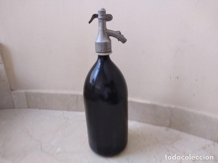Botellas antiguas: Espectacular sifón antiguo - Foto 2 - 194186435