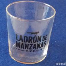 Botellas antiguas: VASO CRISTAL LADRÓN DE MANZANAS CIDER. Lote 194313973