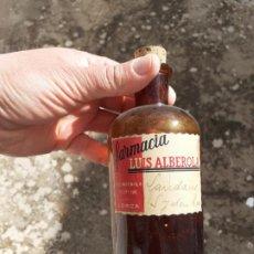 Botellas antiguas: FRASCO DE FARMACIA LAUDANO CON OPIO. Lote 194354508