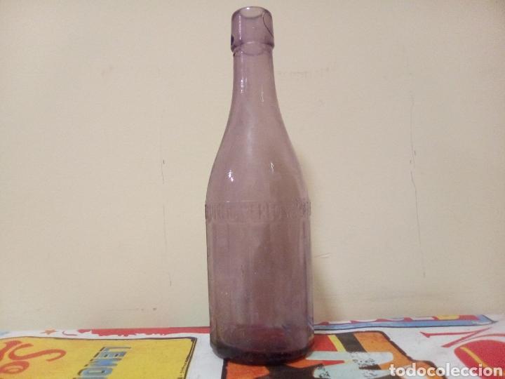BOTELLA GASEOSA TIBURCIO MERLO VALDEPEÑAS (Coleccionismo - Botellas y Bebidas - Botellas Antiguas)