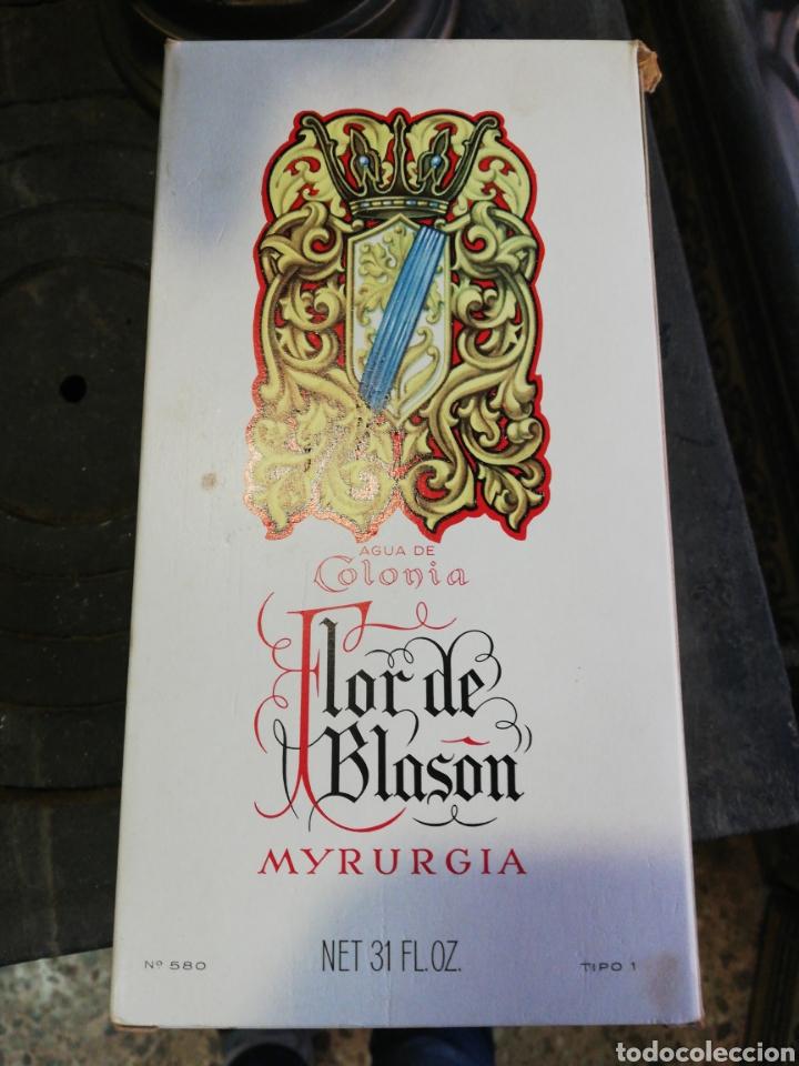 Botellas antiguas: Flor de Blason, Myrurgia, grande, 19 cm, entera - Foto 6 - 194876231