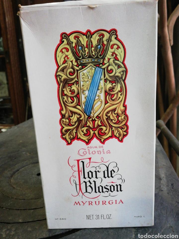 FLOR DE BLASON, MYRURGIA, GRANDE, 19 CM, ENTERA (Coleccionismo - Botellas y Bebidas - Botellas Antiguas)