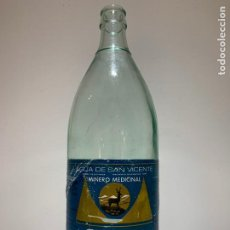 Botellas antiguas: ANTIGUA BOTELLA DE AGUA LANJARON, ETIQUETA DE PAPEL, RARA. Lote 194893281