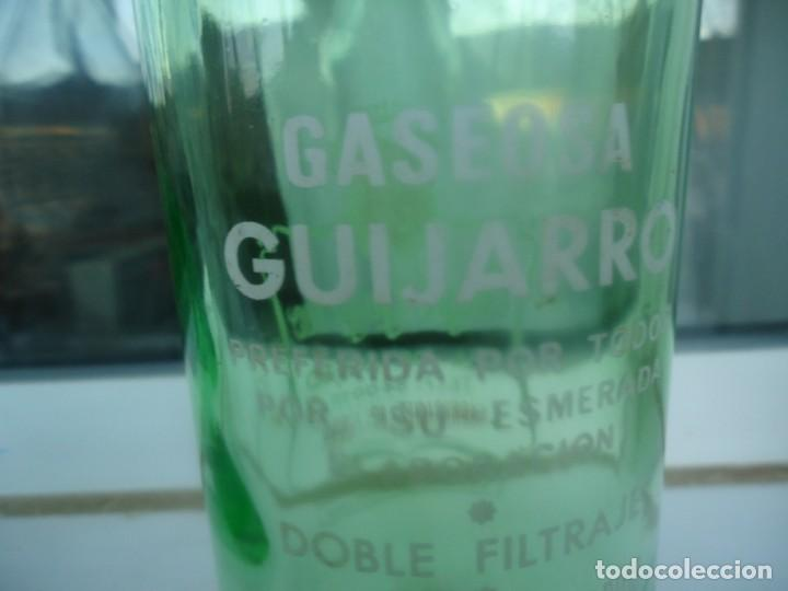 Botellas antiguas: BOTELLA DE GASEOSA ANGEL GUIJARRO - Foto 2 - 194938596