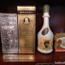 Botellas antiguas: BOTELLAS ANTIGUAS DE BEBIDAS ALCOHOLICAS. Lote 194952621