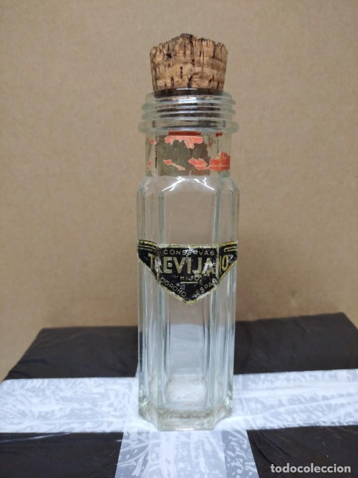 ANTIGUA BOTELLA DE CONSERVAS TREVIJANO HIJO. LOGROÑO. ESPAÑA. (Coleccionismo - Botellas y Bebidas - Botellas Antiguas)