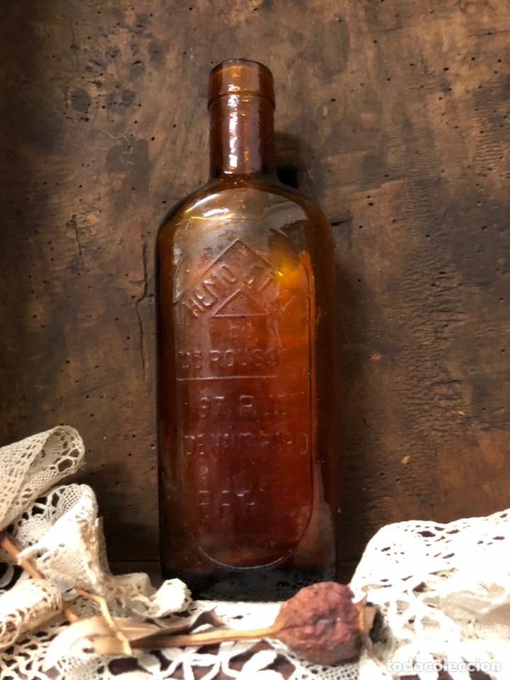 Botellas antiguas: BOTELLA ANTIGUA DE CRISTAL HÉMOSTYL JARABE para la anemia .Años 40. - Foto 3 - 195337336