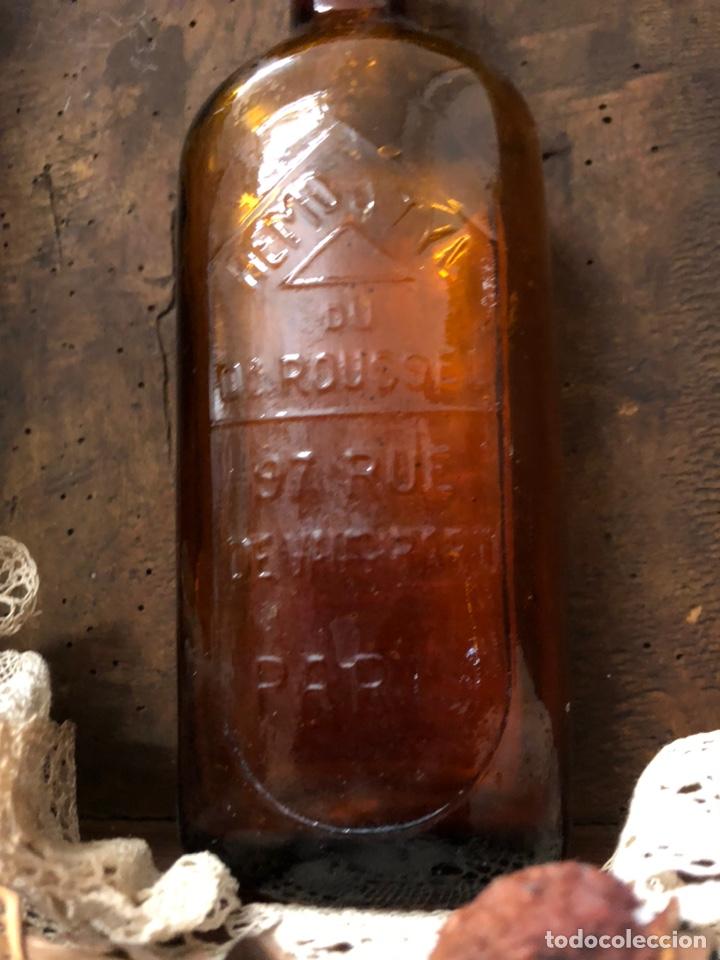 Botellas antiguas: BOTELLA ANTIGUA DE CRISTAL HÉMOSTYL JARABE para la anemia .Años 40. - Foto 4 - 195337336