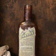 Botellas antiguas: BOTELLA ANTIGUA DE CRISTAL HÉMOSTYL JARABE PARA LA ANEMIA .AÑOS 40.. Lote 195337336