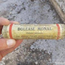 Botellas antiguas: FRASCO DE FARMACIA BOLEASE MONAL // SIN DESPRECINTAR. Lote 195438887