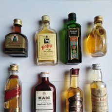 Botellas antiguas: LOTE 8 BOTELLAS MINIATURA WHISKY. Lote 198139732
