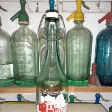 Botellas antiguas: BOTELLA DE GASEOSA ESPUMOSOS RODRIGO DE MONCADA 1/2 L. Lote 199985313