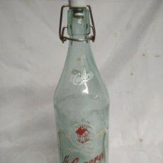 Botellas antiguas: BOTELLA DE CRISTAL. LA CASERA.. Lote 200404132