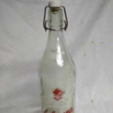 Botellas antiguas: BOTELLA DE CRISTAL. LA CASERA.. Lote 200404143