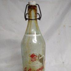 Botellas antiguas: BOTELLA DE CRISTAL. LA CASERA.. Lote 200404148
