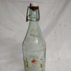 Botellas antiguas: BOTELLA DE CRISTAL. LA CASERA.. Lote 200404181