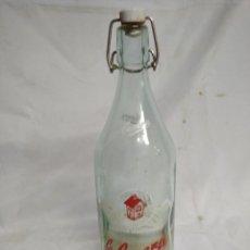 Botellas antiguas: BOTELLA DE CRISTAL. LA CASERA.. Lote 200404187