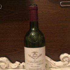 Botellas antiguas: BOTELLA VINO VACÍA VEGA SICILIA UNICO COSECHA 1990 Nº 101742. Lote 201704815