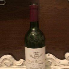 Botellas antiguas: BOTELLA VINO VACÍA VEGA SICILIA UNICO COSECHA 1990 Nº 101744. Lote 201704831