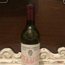 Botellas antiguas: BOTELLA VINO VACÍA VEGA SICILIA VALBUENA 5º COSECHA 2001 Nº 092171. Lote 201705032