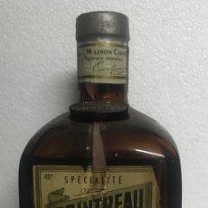 Botellas antiguas: BOTELLA COINTREAU TAPÓN DE PLOMO. Lote 202284082