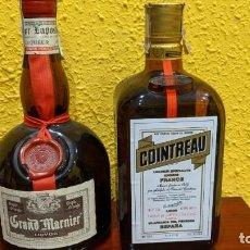 Botellas antiguas: LICORES-GRAN MARNIER Y COINTREAU - AÑO 1980-90. Lote 202475133